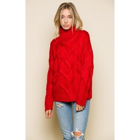 Raga LA Mikayla Mock Neck Sweater