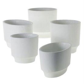 "Glendale White Pot 7""x7"""