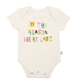 Finn + Emma We are Late Bodysuit