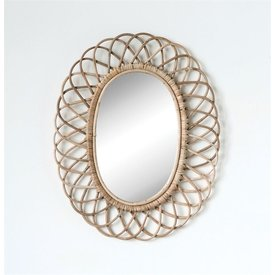 MR Home Woven Bamboo Wall Mirror