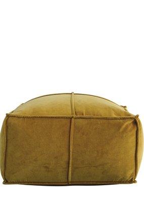 MR Home Cotton Velvet Pouf, Goldenrod
