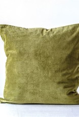 "MR Home 20"" Square Cotton Velvet Pillow Green"