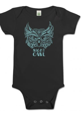 Soul Flower Night Owl Organic Bodysuit