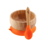 Bamboo Stay Put Suction Baby Bowl + Spoon