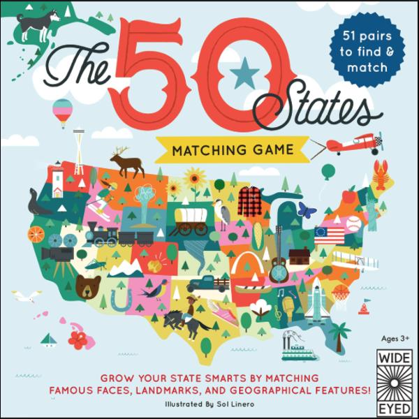 Quatro Books 50 States Matching Game