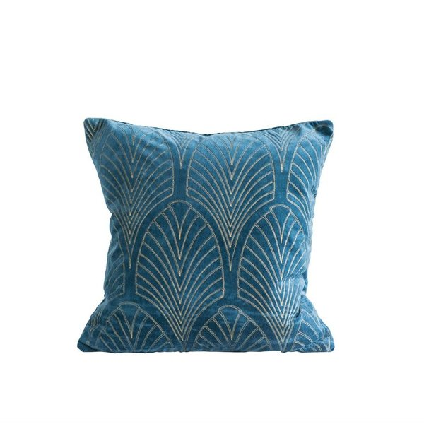 "Bloomingville 20""Square Cotton Velvet Pillow"