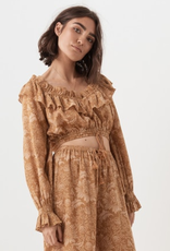 Spell and the Gypsy Collective Lioness Peasant Blouse - Caramel
