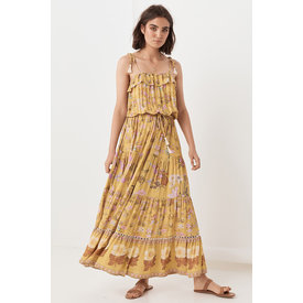 Spell and the Gypsy Collective Wild Bloom Strappy Dress - Mustard