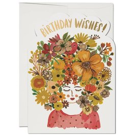 Red Cap Cards Floral Tresses