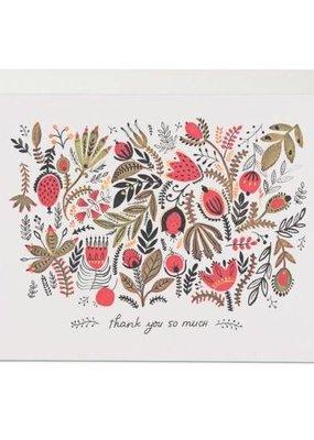 Red Cap Cards Folk Flowers