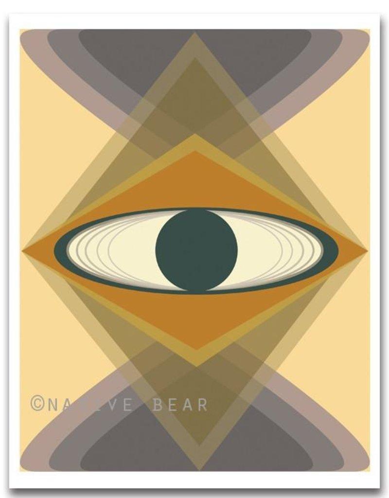 Native Bear Orbit - Peach Print 8X10