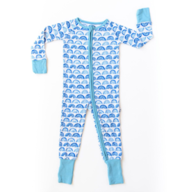 Little Sleepies Rainbow Zip Romper