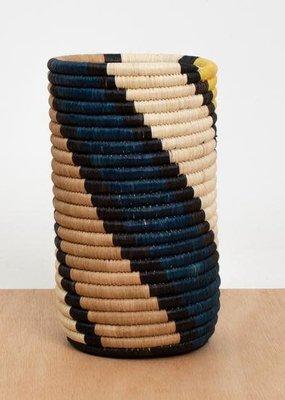 Kazi Mustard Swirled Vase