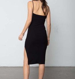 Stillwater LA The Heart Throb Rib Tank Dress in Black