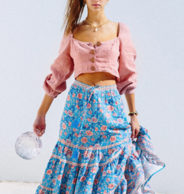 Arnhem Bella Rose Midi Skirt in Olympia