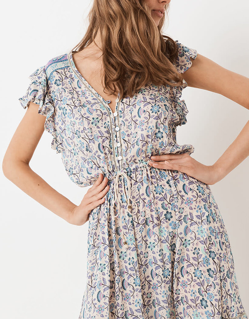 Spell and the Gypsy Collective Dahlia Midi Dress - Dusty Blue