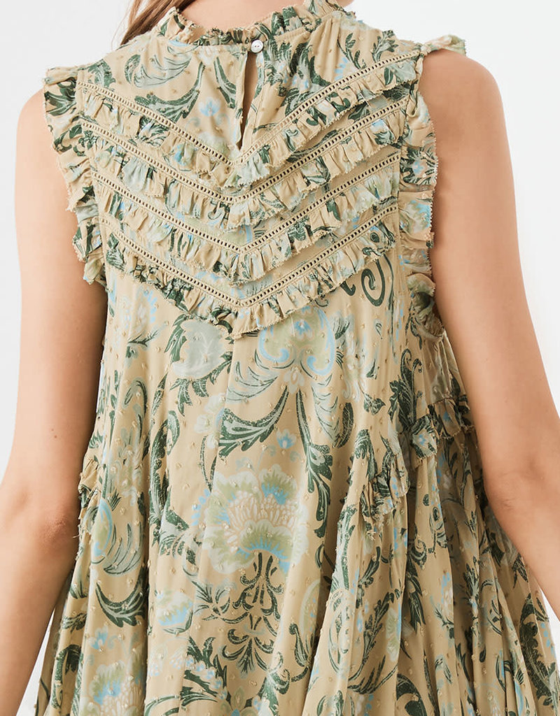 Spell and the Gypsy Collective Aurora Tunic Dress - Avocado