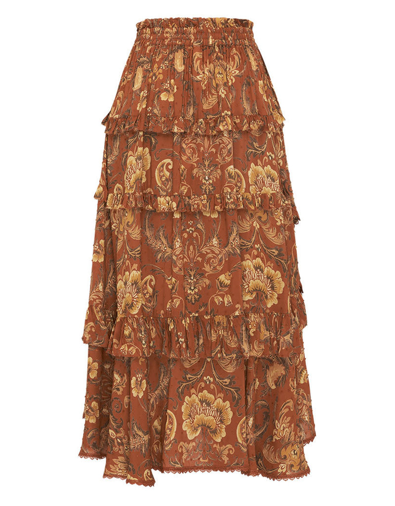 Spell and the Gypsy Collective Aurora Frill Skirt - Burnt Ember