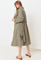 Spell and the Gypsy Collective Eagleback Overcoat - Khaki