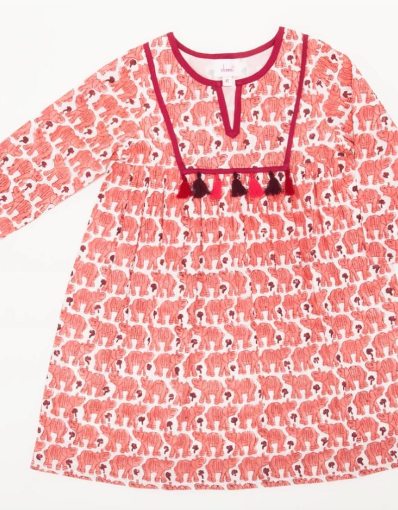 cheeni Joya Elephant Tassel Dress