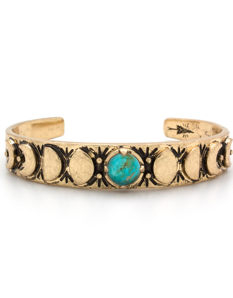 Hiouchi Jewels MOON PHASES CUFF BRACELET - Turquoise