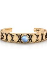 Hiouchi Jewels MOON PHASES CUFF BRACELET - Moonstone