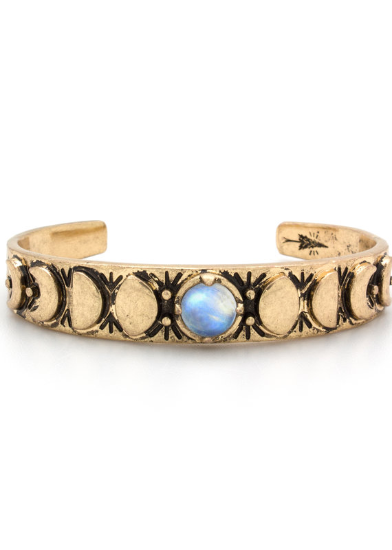 Hiouchi Jewels MOON PHASES CUFF BRACELET - Moonstone