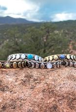 Hiouchi Jewels MOON PHASES CUFF BRACELET - Labradorite