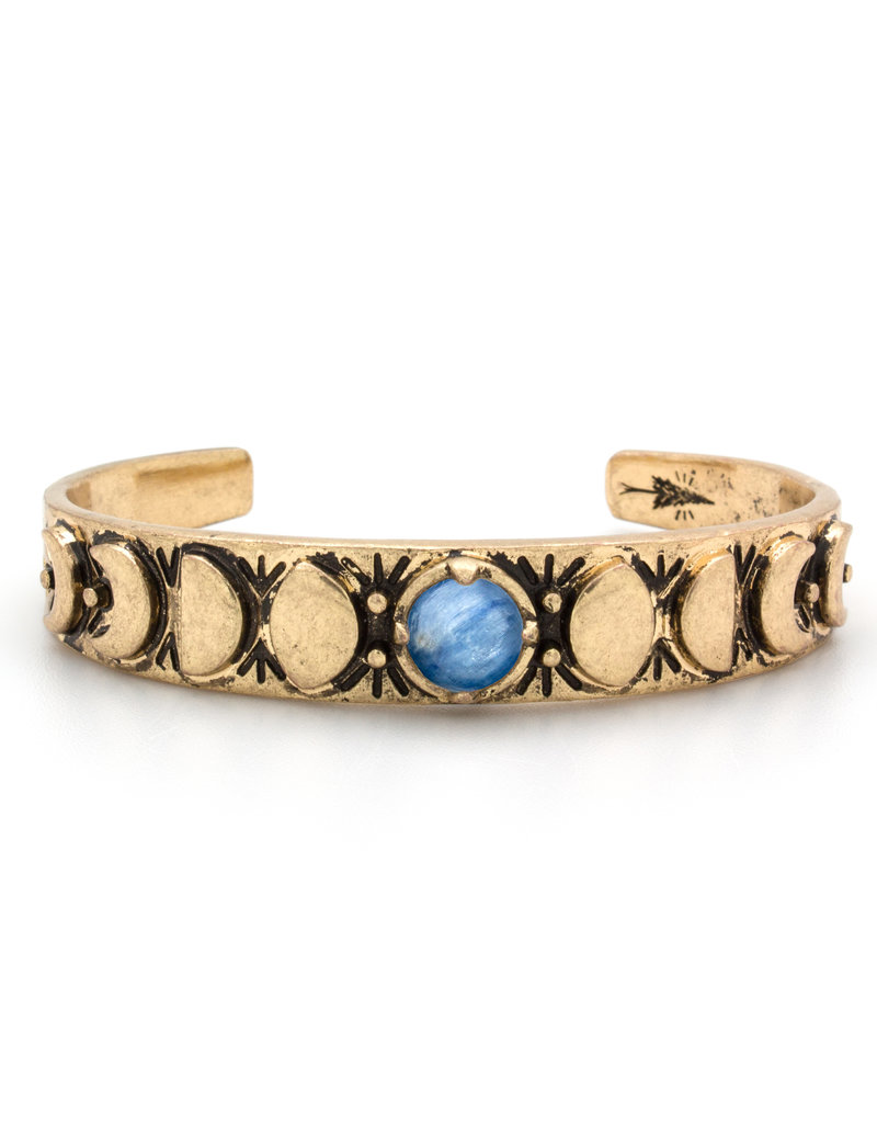 Hiouchi Jewels MOON PHASES CUFF BRACELET - Kyanite