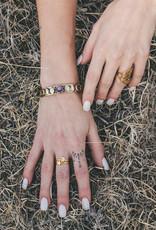 Hiouchi Jewels Moon Phases Cuff Bracelet - Amethyst