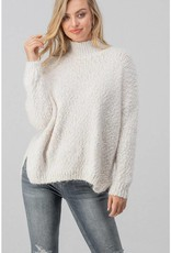Dreamers Fuzzy Knit High Neck Dolman Sweater