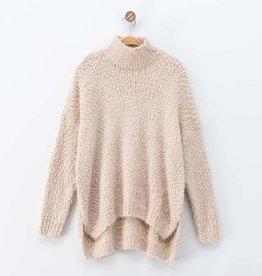 Dreamers Fuzzy Knit High Neck Dolman Sweater