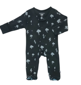 Babysoy Inc. Clouds Zipper Footie