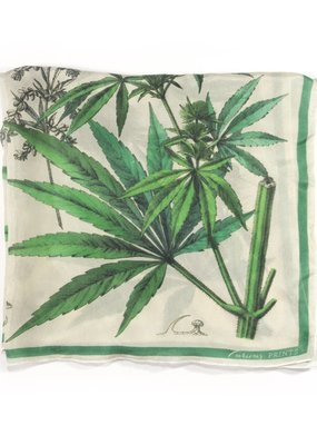 Curious Prints Cannabis Scarf