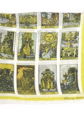 Curious Prints Tarot Card Chart Scarf