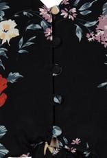 kivari Zinnia Bloom Crop Top Black