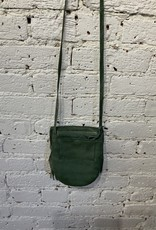 Cut n' Paste Meadow Fringe Crossbody Belt Wallet Olive
