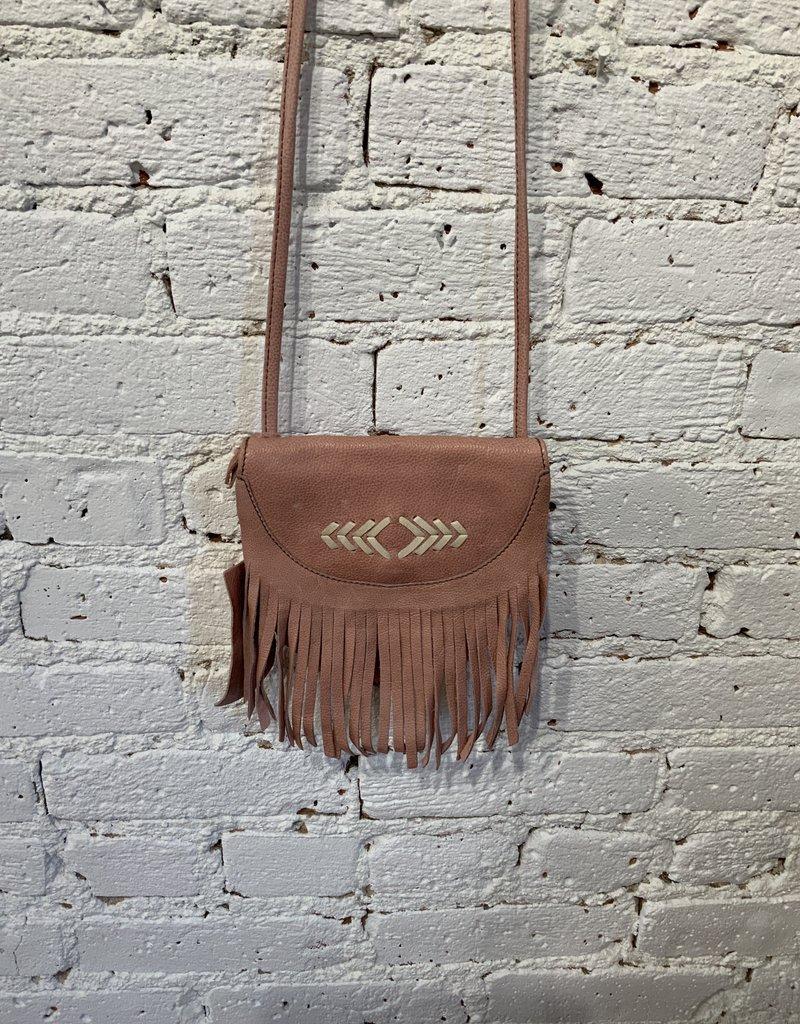 Cut n' Paste Meadow Fringe Crossbody Belt Wallet Pink