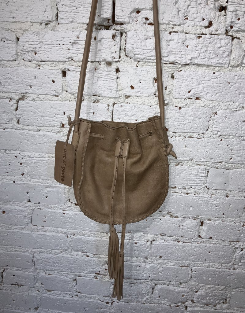 Cut n' Paste Maya Drawstring Crossbody Tan