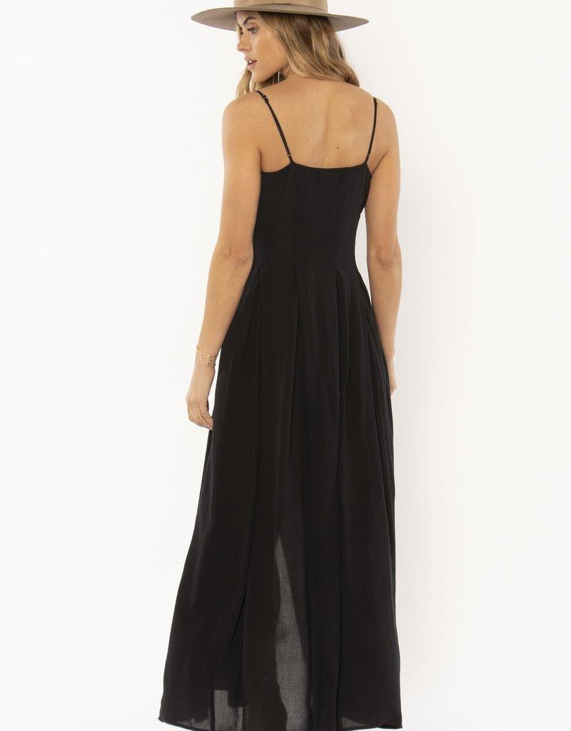 Amuse Society River Tank Woven Dress Black