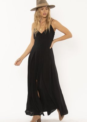 Amuse Society River Tank Woven Dress Black