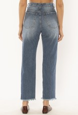 Amuse Society Selena Woven Dmin Pant in True Blue