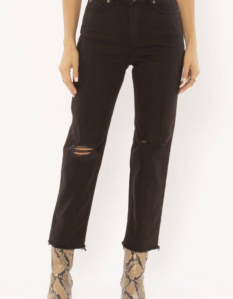 Amuse Society Selena Denim Pant Black
