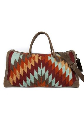 MZ Crystal Leather and Wool Duffel Bag