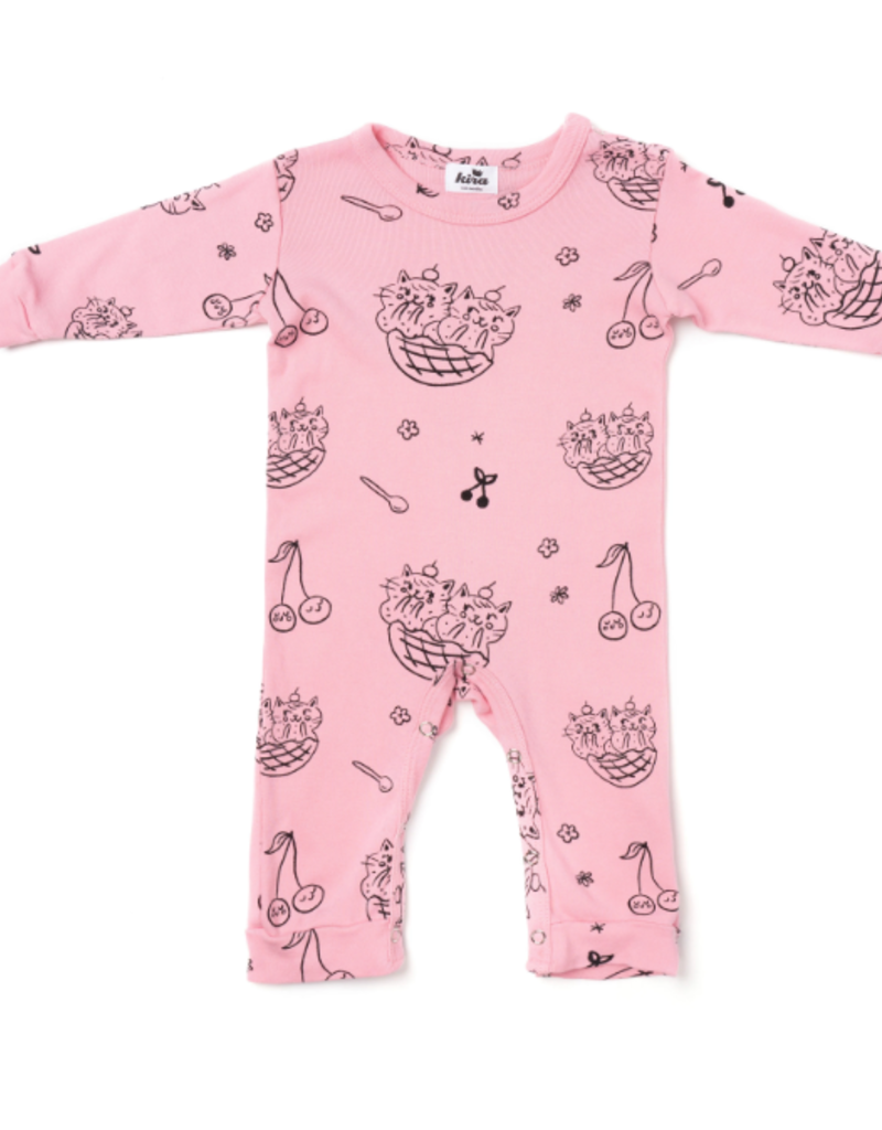 Kira Kids Cat Sundae Romper