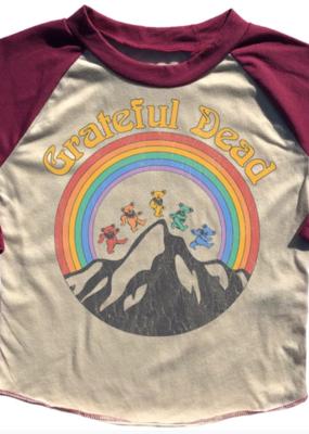 Rowdy Sprout Grateful Dead Rainbow Raglan Tee