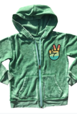 Rowdy Sprout One Love Green Burnout Hoodie