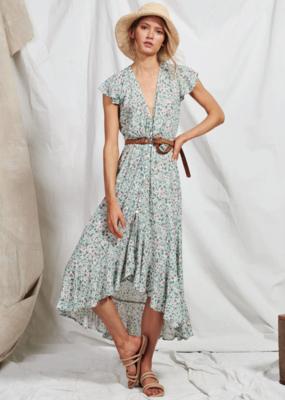 kivari Harlow Floral Maxi Dress Sage