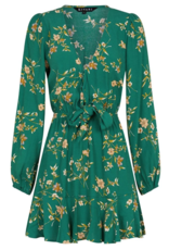 kivari Melody Floral Tie Up Mini Dark Green