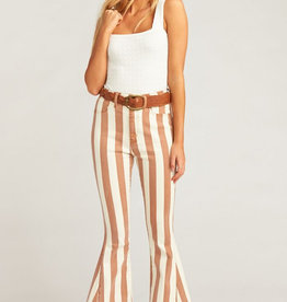 Show Me Your Mumu Berkeley Zip Up Bells Cognac Stripe